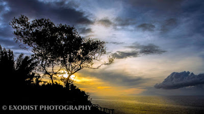 Ocean Cliff Sunset With Silhouette © Exodist Photography, All Rights Reserved