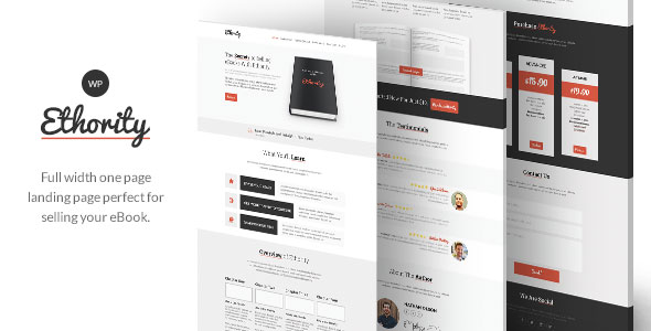 Free Download Ethority V1.2.2 One Page eBook Landing Wordpress Theme