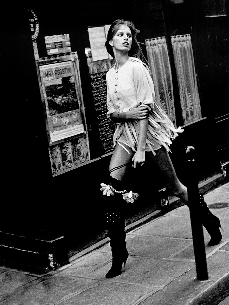 Karolina Kurkova photographed by Peter Lindbergh for Paris editorial | Harper's Bazaar US January 2003 via fashioned by love
