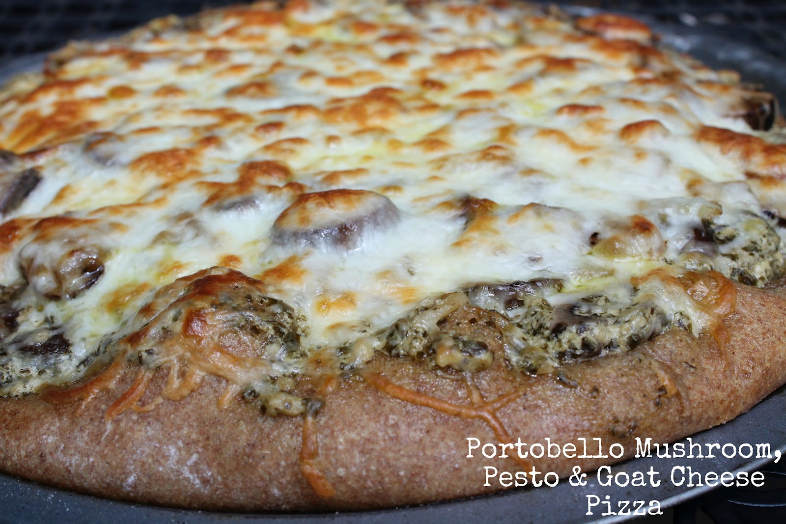 Portobello Mushroom, Pesto & Goat Cheese Pizza - Carolina ...