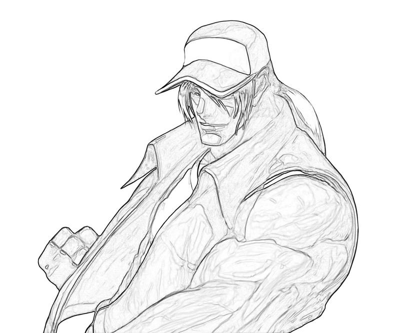 king-of-fighters-terry-bogard-strength-coloring-pages