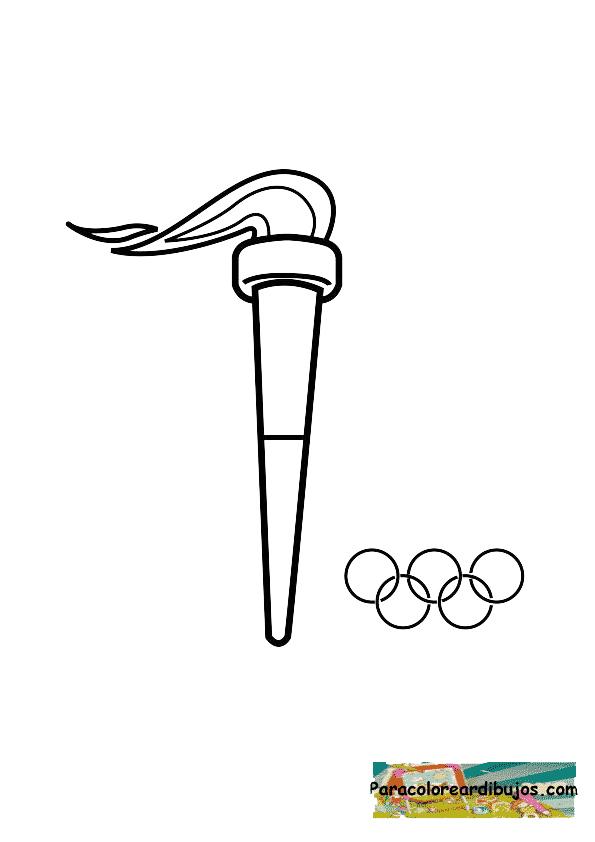 antorcha olimpica para colorear