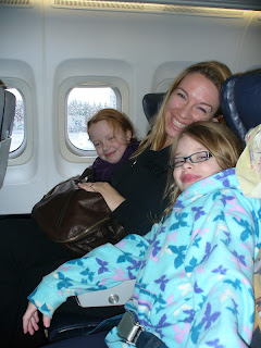 Family on plane