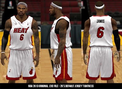 NBA 2K13 Default Jersey Tightness (Original .exe file)