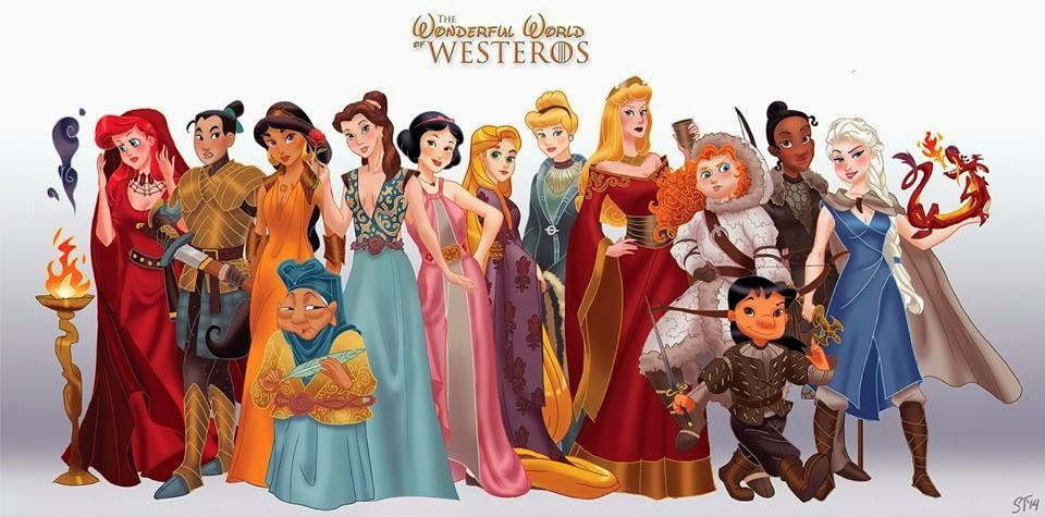 {Divulgação} Artista combina Princesas da Disney e Game of Thrones