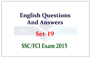 Practice English Passage Questions and Answer for SSC/FCI Exam