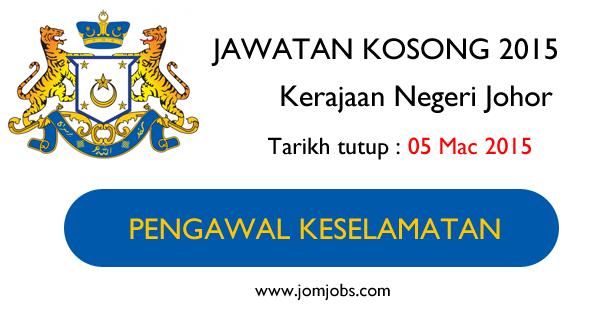 Jawatan Kosong Kerajaan Negeri Johor 2015 Terkini
