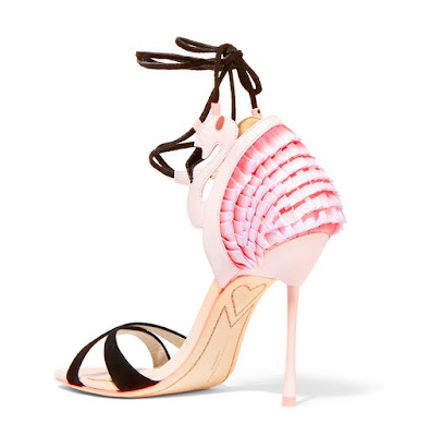 Sophia Webster Flamingo Frill Leather Sandals