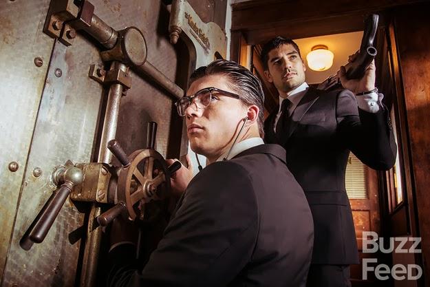D.J. Catrona y Zane Holtz como los hermanos Gecko en Abierto hasta el amanecer tv series