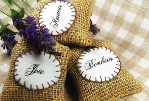 dried french lavender sachets  typography  by Chez Violette