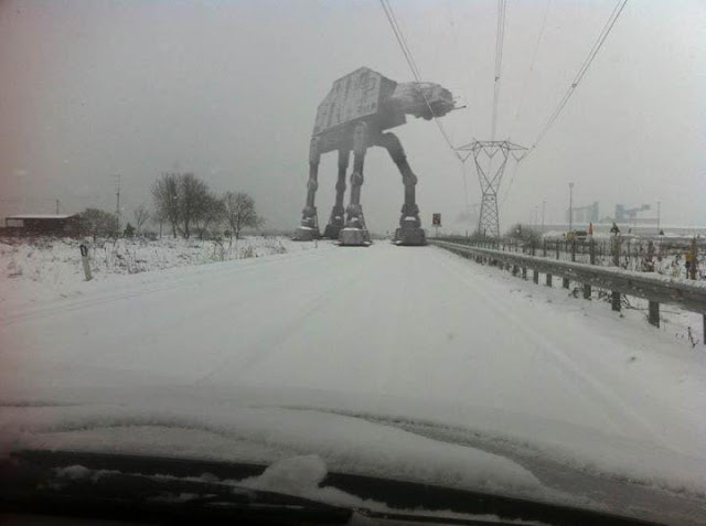 AT-AT on highway