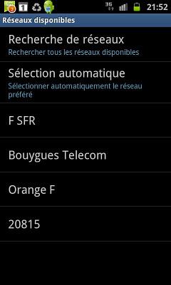 Réseau Free Mobile capté