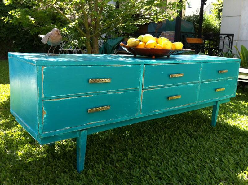 Mueble Baño Azul Turquesa:Publicado por Vintouch muebles de diseño en 21:23