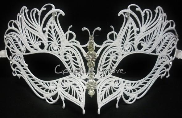 Máscara Italiana Veneziana Majestic Branca