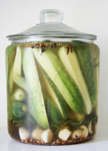 Refrigerator Pickles - with bite