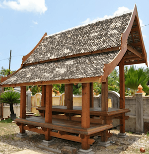 Perabot Taman Gazebo Pergola Wakaf Kayu Bukit Besi