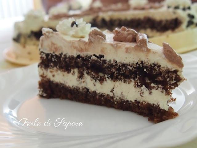 torta di compleanno alla crema di zabaione e cioccolato