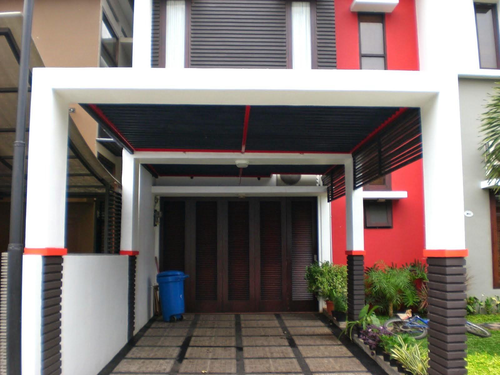 contoh model desain kanopi terah rumah minimalis