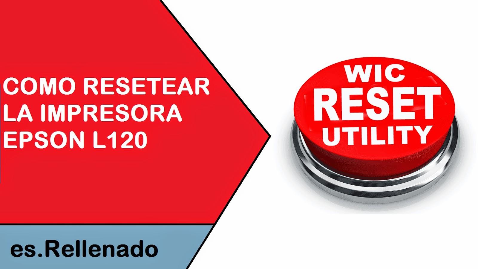 reset almohadillas de impresión con WicReset para Epson L120