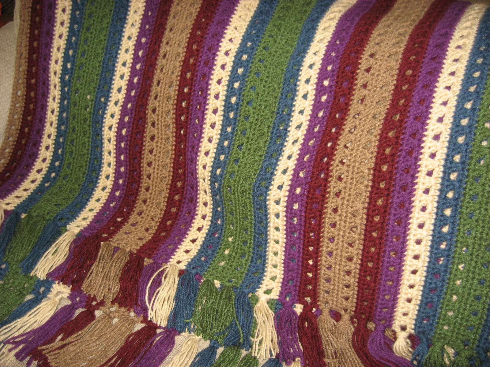 Hooked On Needles Crocheted Wedding Gift Afghan Complete