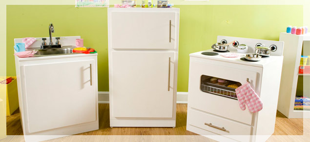PURPLE SAGE ORIGINALS: Children's Play Kitchens ~ New, Repurposed