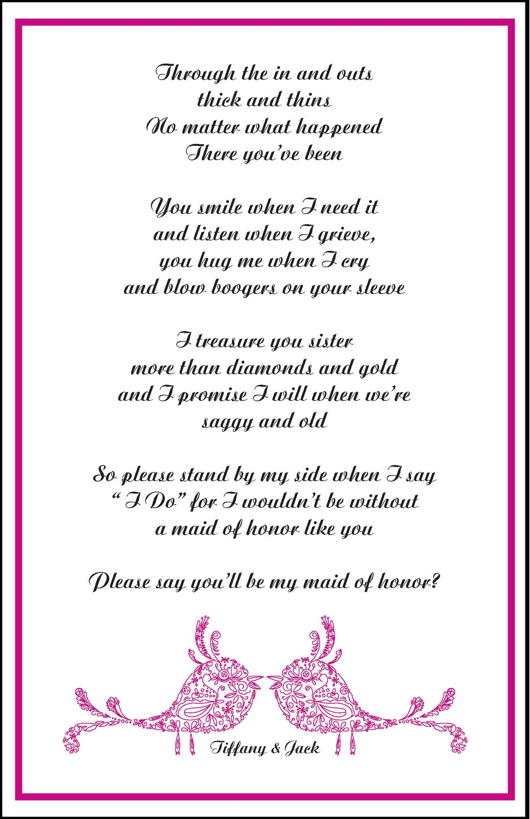 Maid Of Honor Invitation Wording for awesome invitations layout