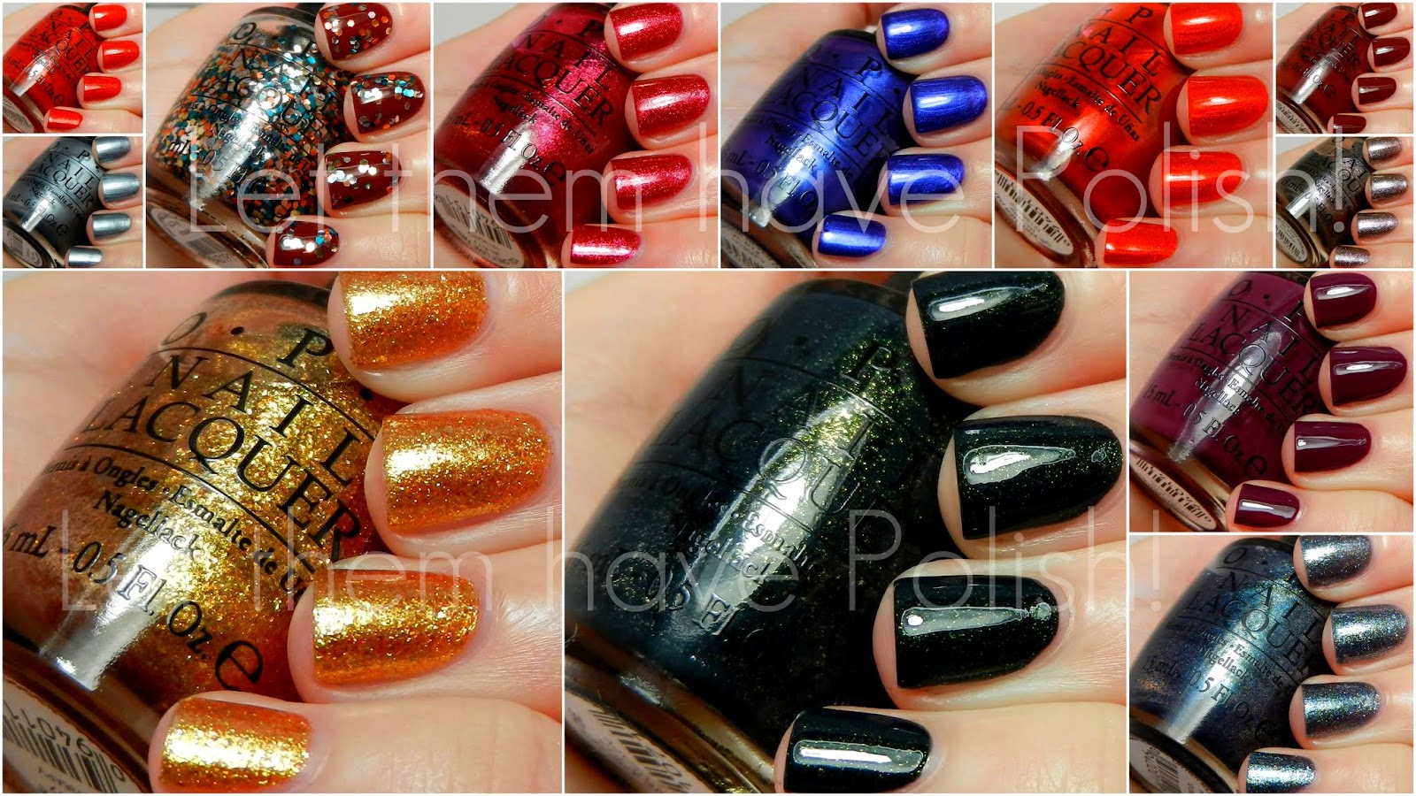 O.P.I Skyfall Collection Swatches