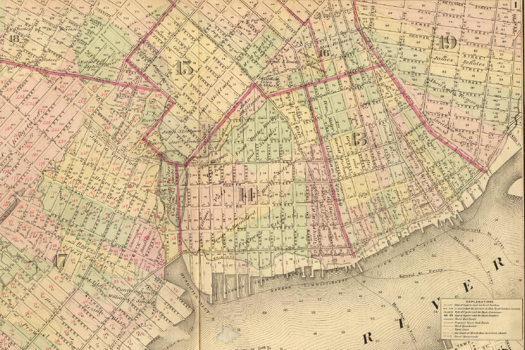 mcbrooklyn 1874 Maps of Old Farmland In Brooklyn