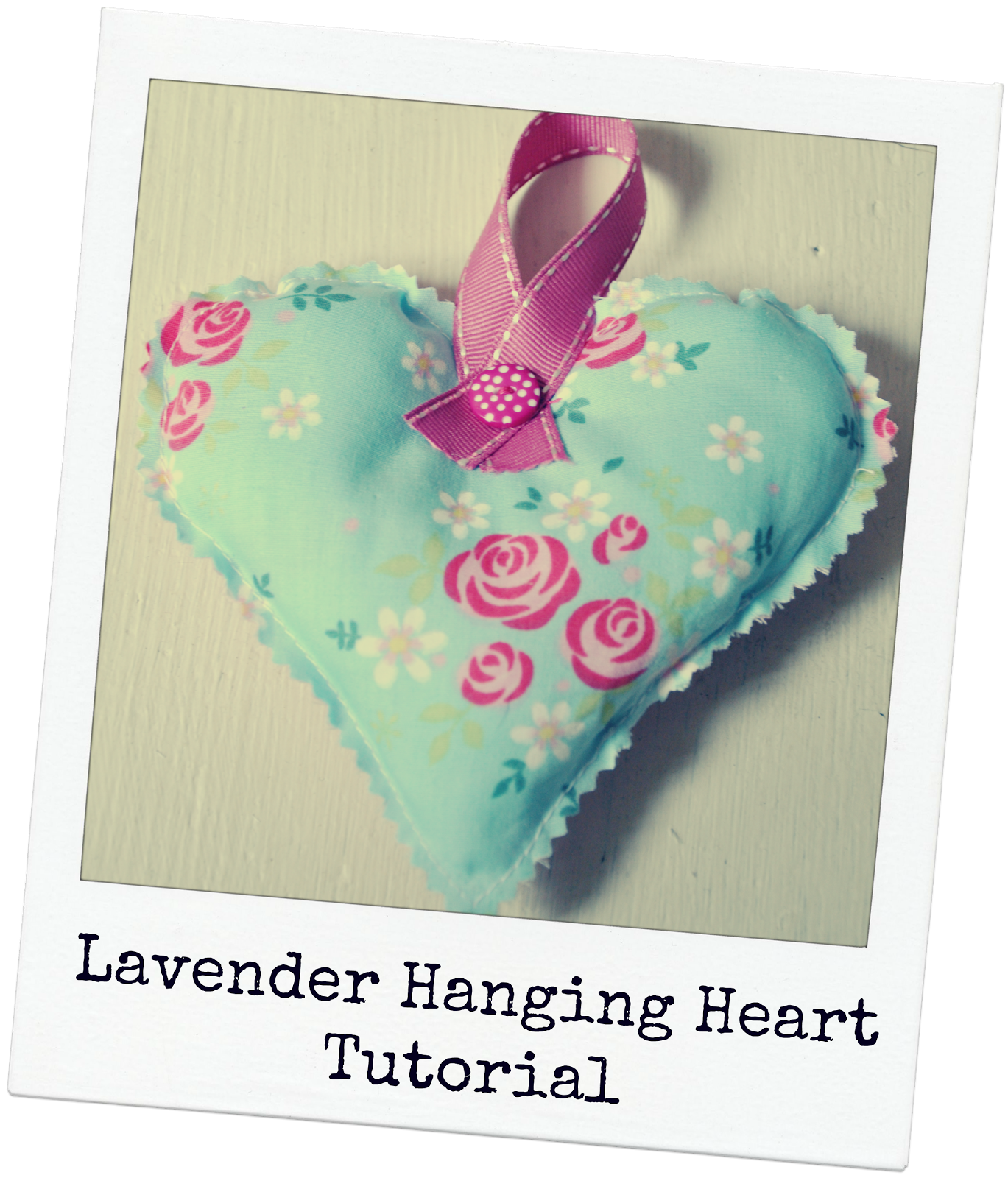 Easy Lavender Hanging Heart