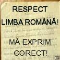 Respect limba română! Mă exprim corect!