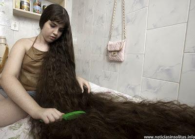 cabellera 12 años sin cortar