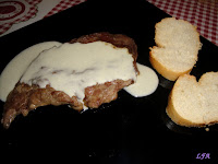 Filete de cerdo con salsa de queso azul