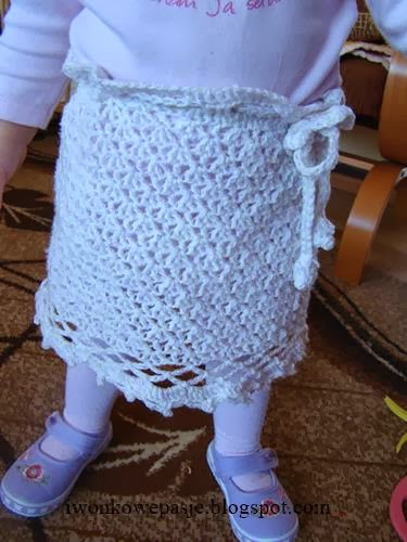 skirt, crocheted, for girls