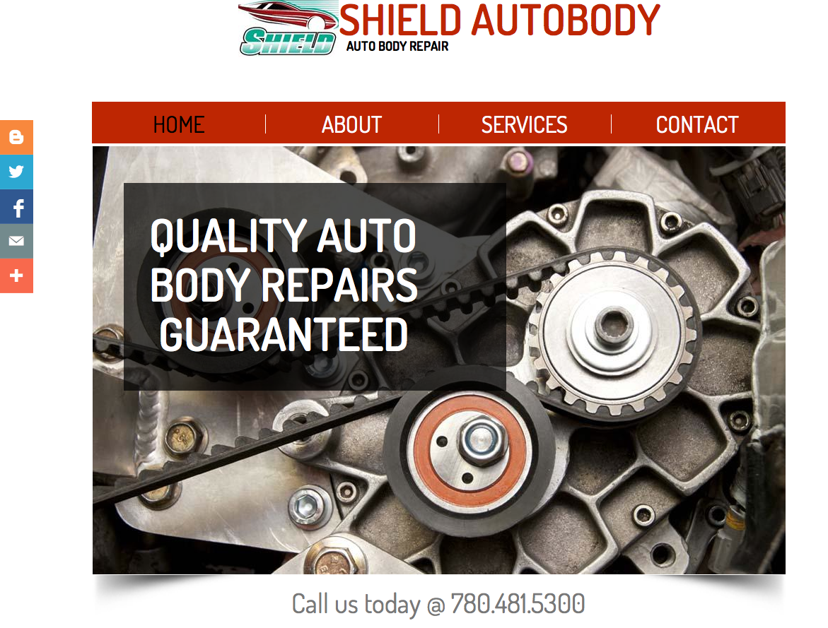 Shield Autobody Website