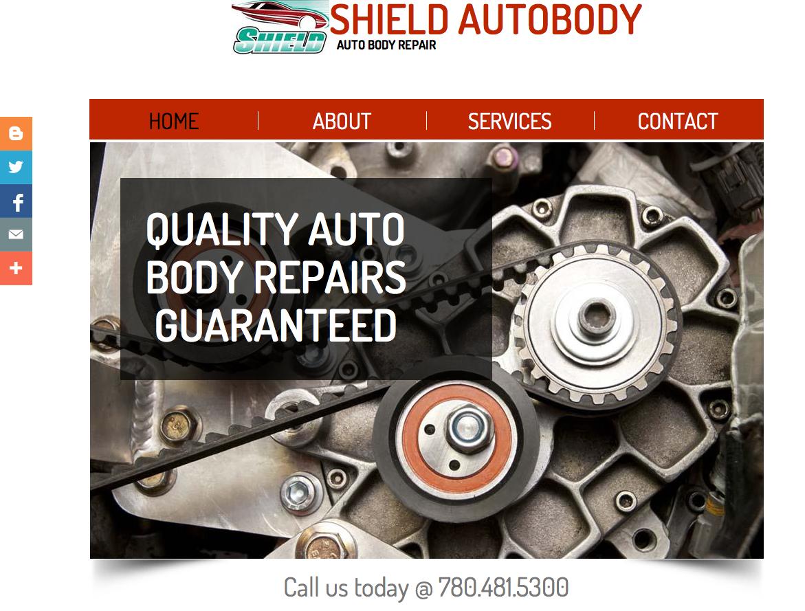 Shield Autobody Website