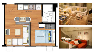 Avida Towers New Manila One Bedroom Unit Plan