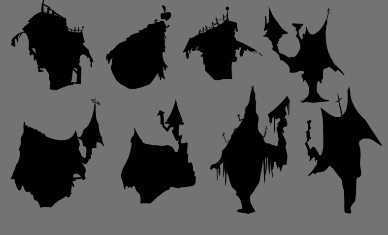 House silhouettes Zero Nightmare Before Christmas Pictures