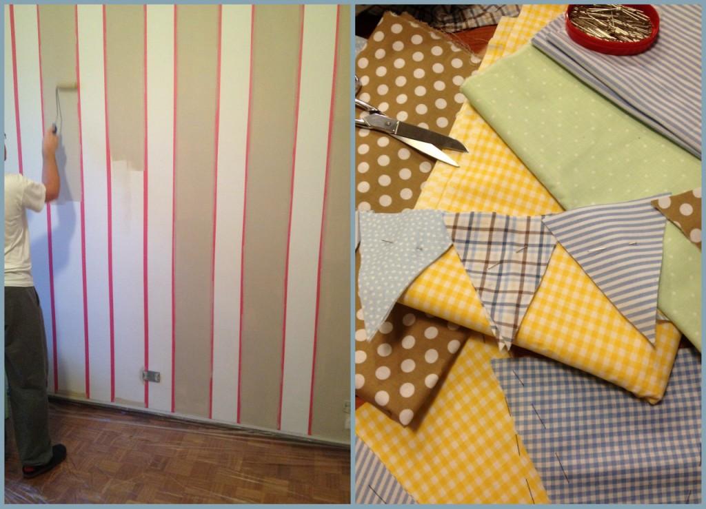 Parete Colorata A Righe: Pareti della camera da letto colorate foto nanopress...