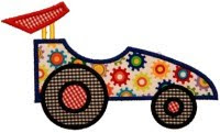 Simple Race Car Applique