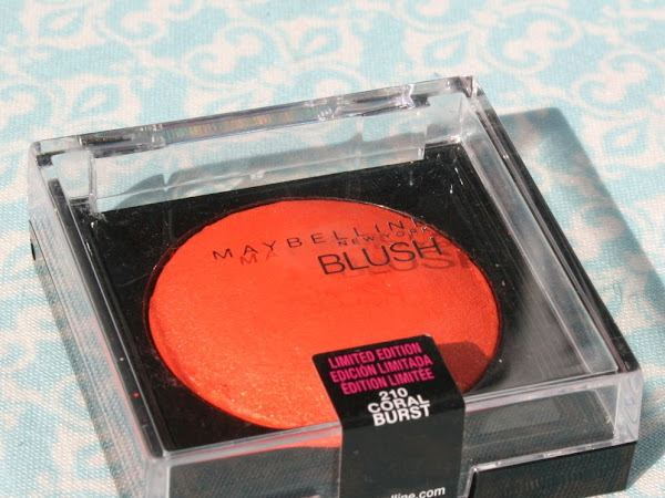 Maybelline Blush - Coral Burst Swatches & Review