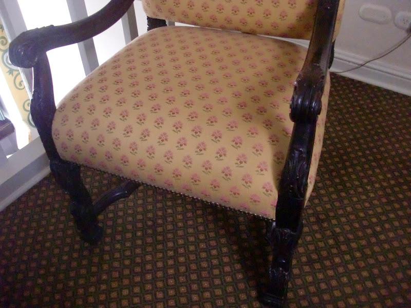 Decoraciones manualidades en madera empezando a tapizar - Tela para tapizar sillas ...