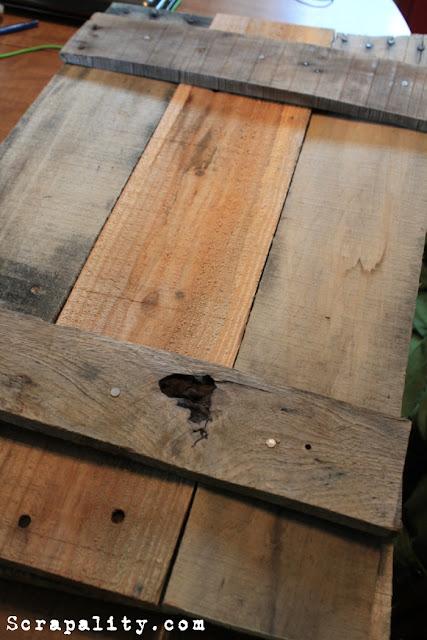 Pallet Wood Faux Shutters