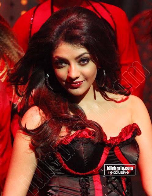 Kajal Agarwal Looking Hot in Black Dress - Cameoshoot Gallery