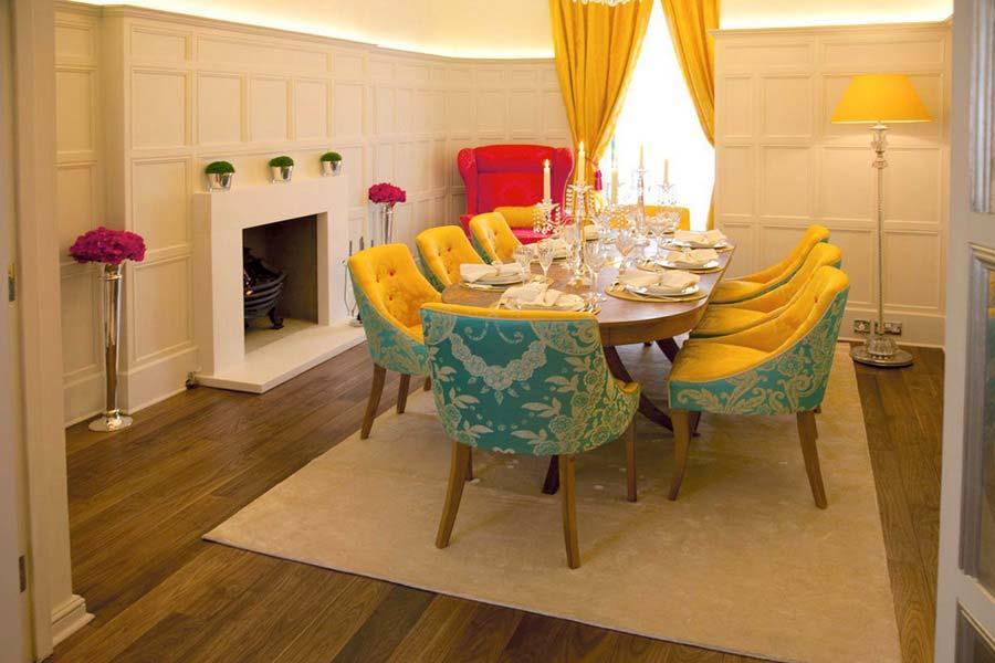 дизайн интерьера: разноцветный таунхаус в Лондоне