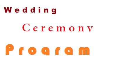 Wedding Ceremony Program Etiquette