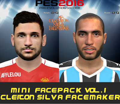PES 2016 Mini Facepack Vol.1 By Cleiton Silva