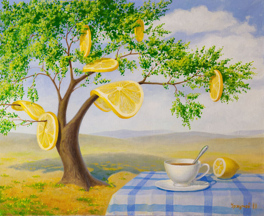 07-Lemon-Butterflies-Vitaly-Urzhumov-Surreal-Paintings-of-the-World-of-Lemons-and-More-www-designstack-co