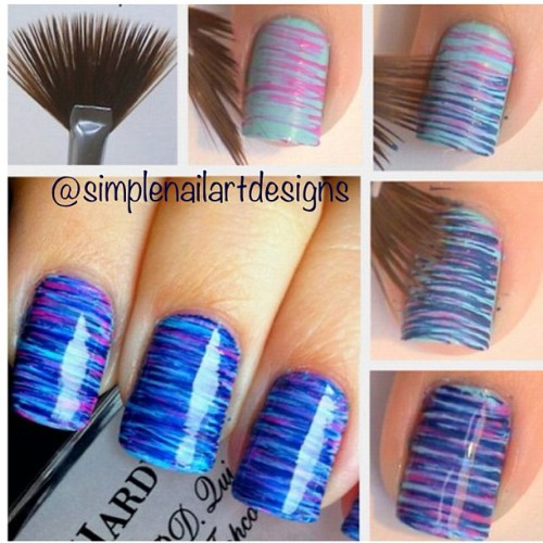 Striped Nail Art Designs