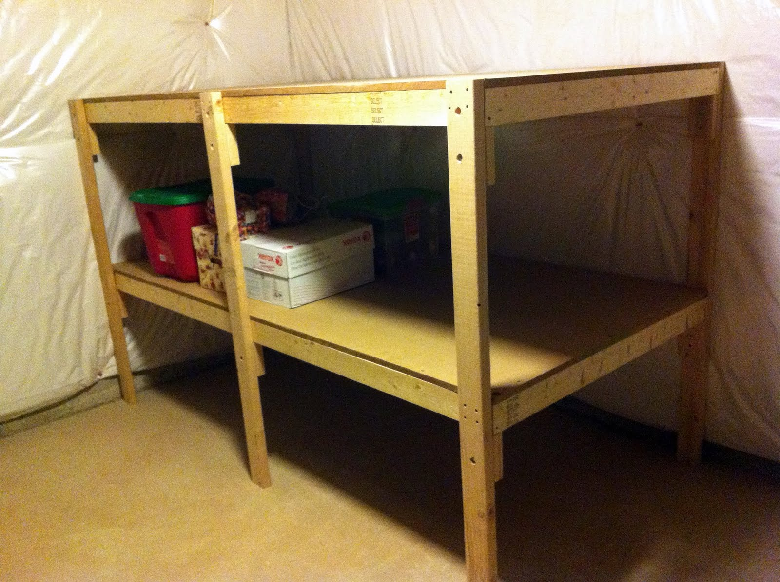 how to build shelving in basement