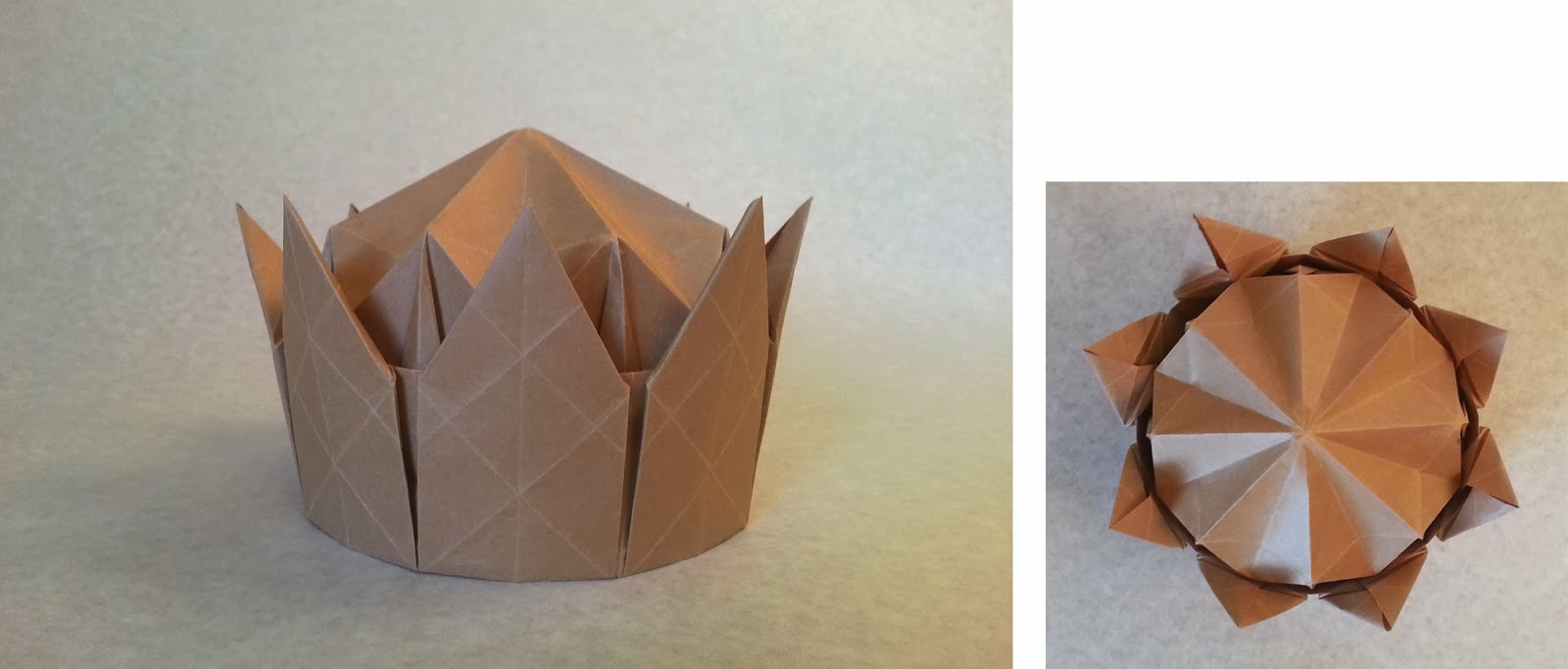 Dellukelling Origami Crown Made From One Sheet Of Paper